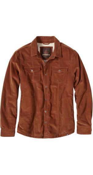 Prana M's Gomez LS Corduroy Jacket Auburn